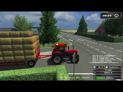 Bale driving ★ Bloopers in Farming Simulator 2011 [HD]