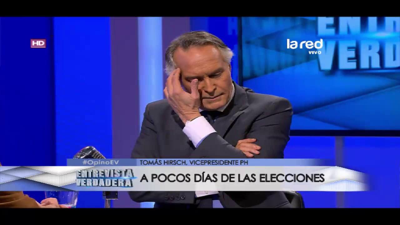 """Tomás Hirsch: """"La disputa estará entre Chile Vamos y el Frente Amplio"""""""