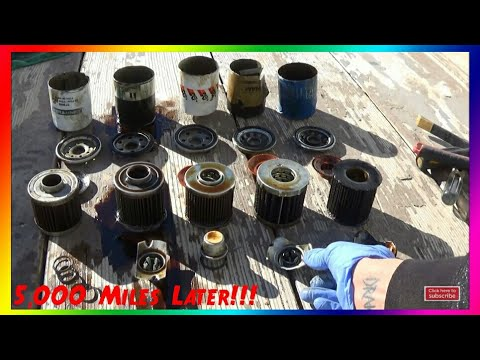 5,000 Mile Used Oil Filter Review [SUPER TECH, MOBIL 1, K&N, FRAM ULTRA, HONDA] Pt.1