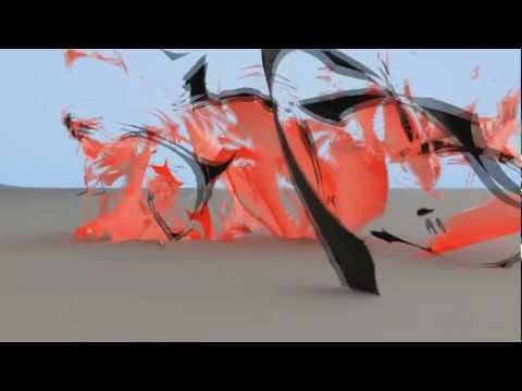 Cinema 4D - Text ripped apart