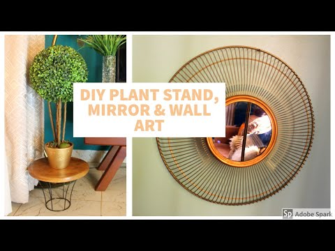 DIY PLANT STAND, MIRROR & WALL ART | DIY USING UNCONVENTIONAL MATERIAL | KOIRE EVELYN
