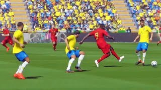 Brasil X Bélgica: Copa do Mundo Rússia - Pro Evolution Soccer 2018 (PES 2018)