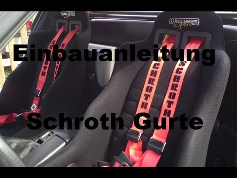 schroth gurte einbauen audi a3 8p youtube. Black Bedroom Furniture Sets. Home Design Ideas