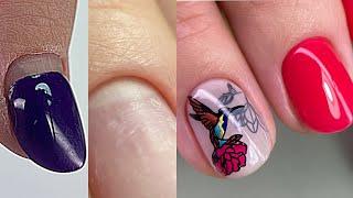 Дизайн на короткие ногти Чистый маникюр Секрет идеальной носки Реверсивный стемпинг