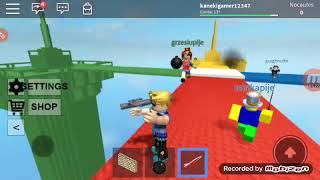 Playing the Roblox turned into a war