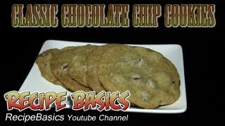 Classic Chocolate Chip Cookies Recipe - All Butter Recipe ! Chewy !