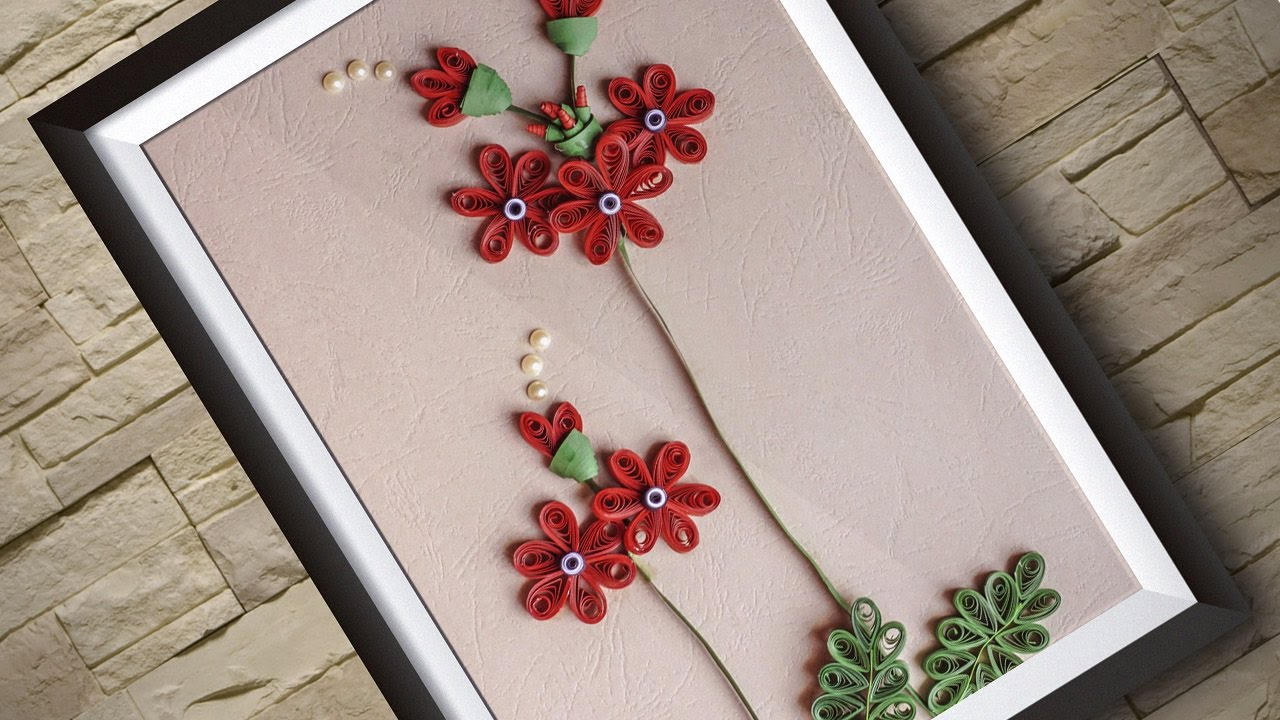Wall Hanging Ideas quilling art | room decor-wall hanging ideas | handiworks#86 - youtube