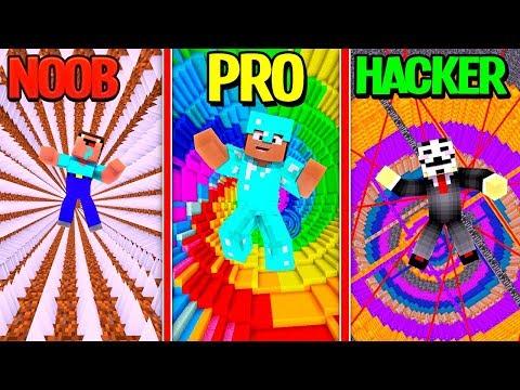 Minecraft - DEATH DROPPER CHALLENGE! (NOOB PRO HACKER)