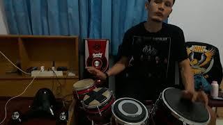 Kebacut baper belajar cover kendang Via Vallen Prisma music