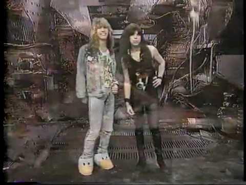Vinnie Vincent and Mark Slaughter host Headbangers Ball 1988