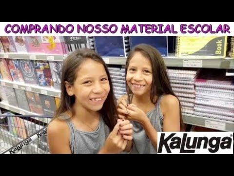 COMPRANDO NOSSO MATERIAL ESCOLAR - KALUNGA