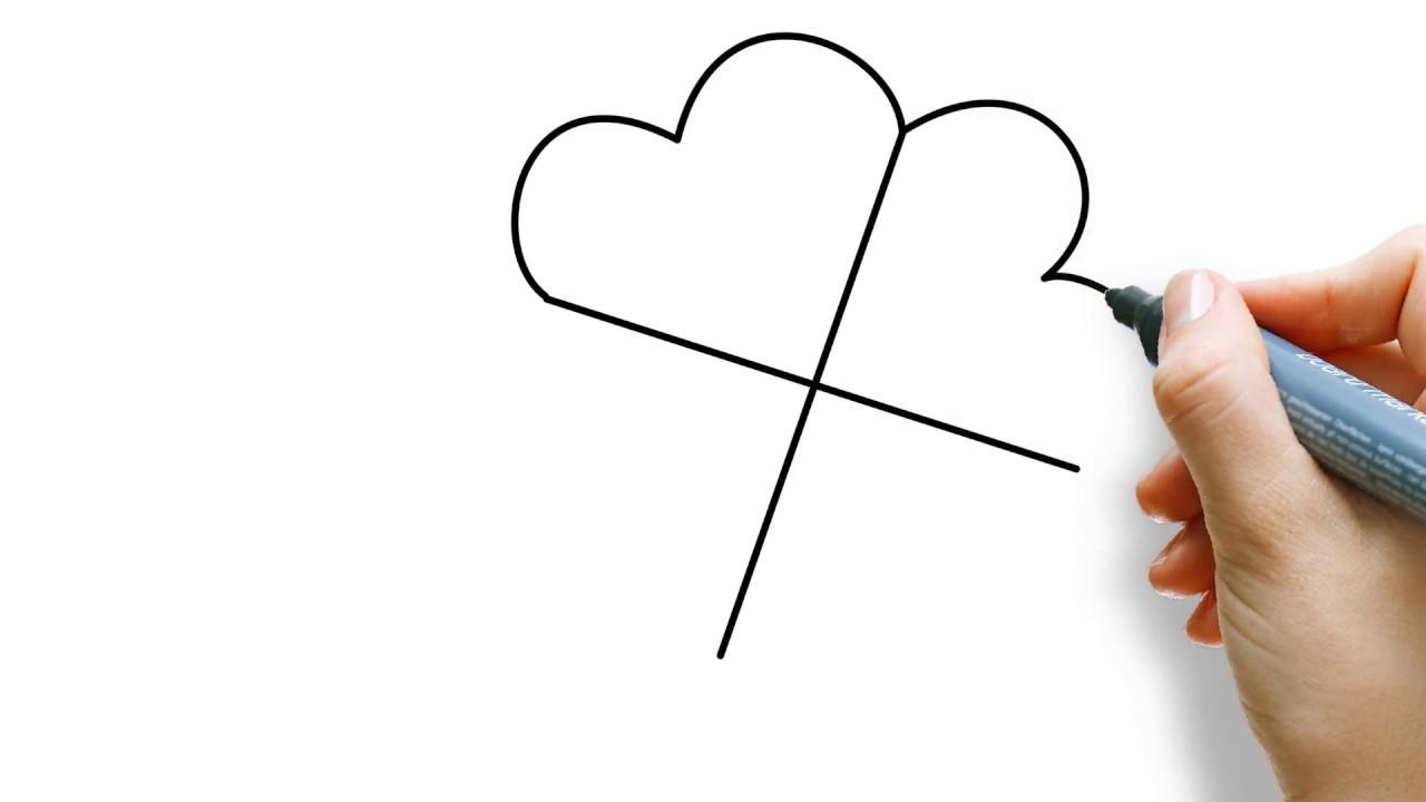 New Samen een klavertje vier tekenen - voor kinderen! - YouTube @WB02