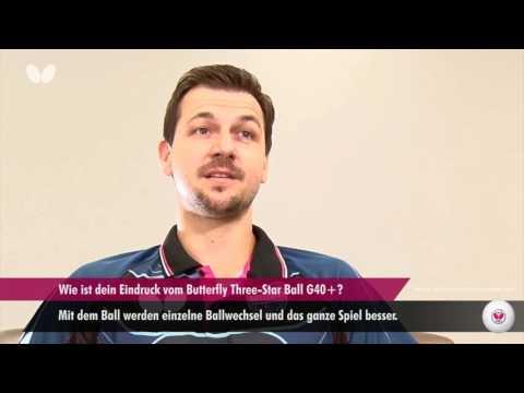 Timo Boll über den neuen Butterfly Three-Star Ball G40+ (DE-Untertitel)