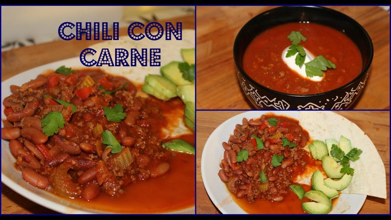 Chili con carne recette simple et rapide youtube - Recette chili cone carne thermomix ...