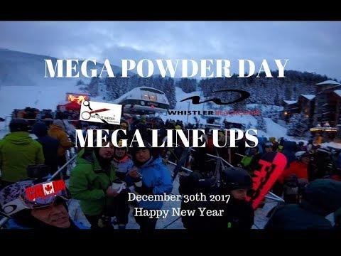 Mega Powder Day Dec 30th 2017 @WhistlerBlackcomb 30 + CM