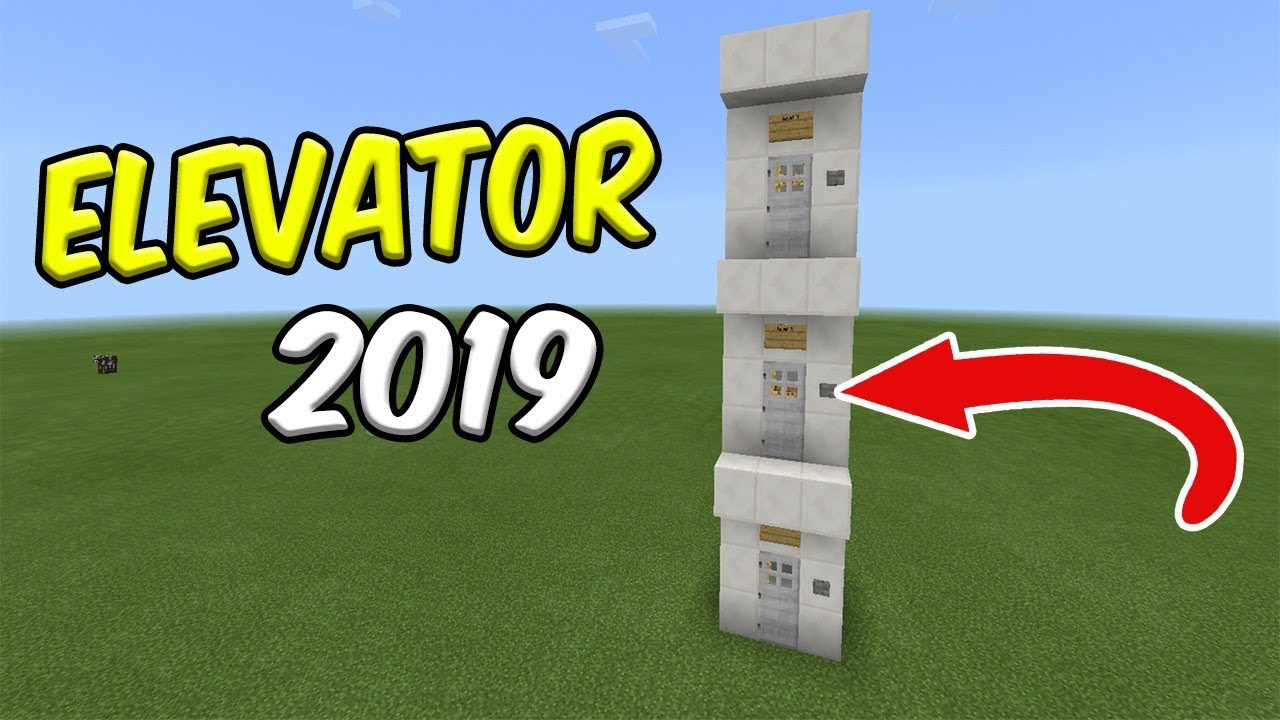 How to Make an ELEVATOR in Minecraft PE ( No Redstone/ No Commands