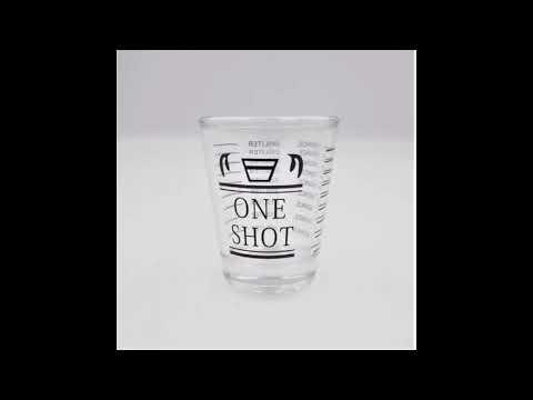 แก้วตวงหนึ่งช็อต One shot สเกลสีดำ 30 ml 1 ออนซ์ รหัส 0430