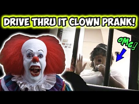 Drive Thru IT Clown Prank!!