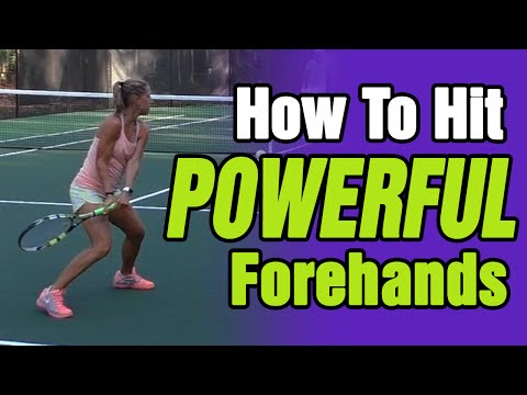 How To HIT POWERFUL Forehands In Tennis Like The PROS!