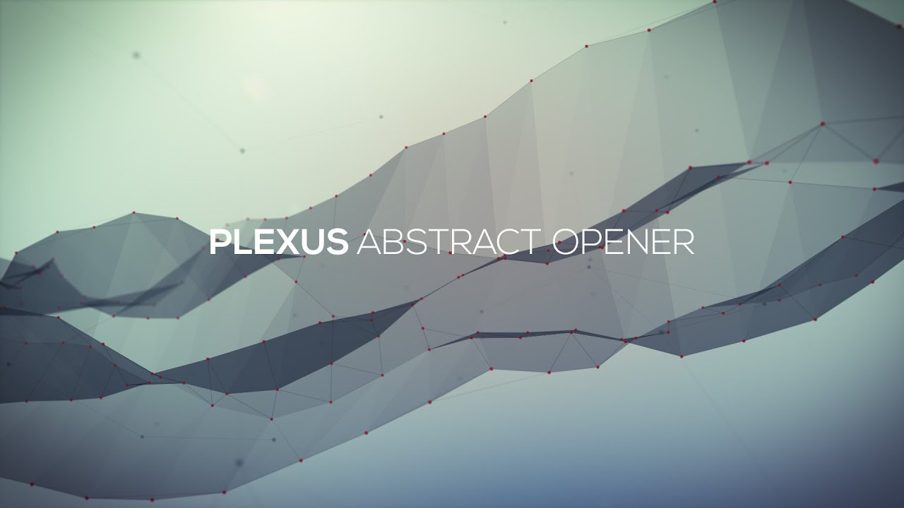 After effects template plexus abstract opener youtube pronofoot35fo Gallery