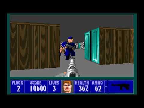 Wolfenstein 3D Gameplay (1080P) |