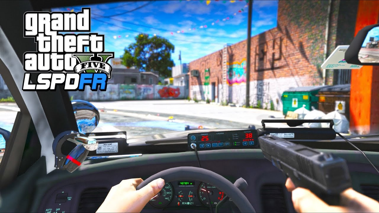 What it's like to be a cop in GTA5 (LSPDFR Mod Gameplay)