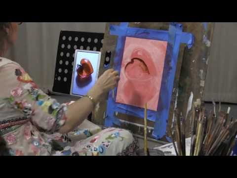 Oil Painting Exercise One: Glass Heart, Part One
