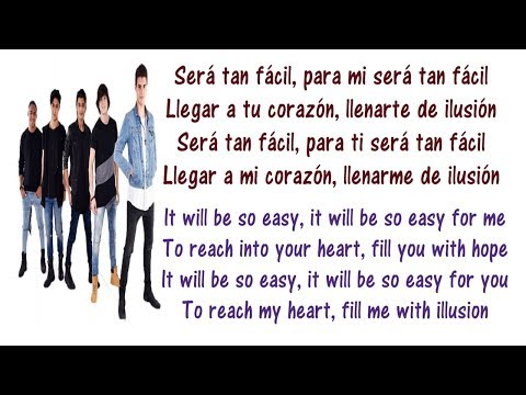 CNCO - Tan Fácil Lyrics English and Spanish - Translation & Meaning - Letras en ingles