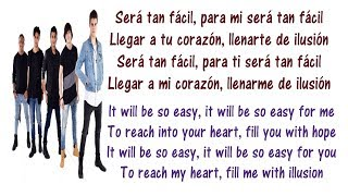 CNCO - Tan Fácil Lyrics English and Spanish - Translation & Meaning - Letras en ingles