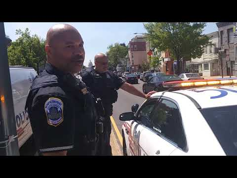 One Civilized Bald Head!! Respect Met w/ Respect! DC Police