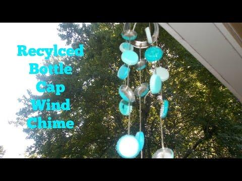 DIY Recyled Bottle Cap Wind Chime