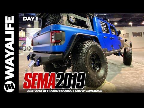 SEMA 2019 Jeep Gladiator Truck JL Wrangler Products Accessories DAY 1 Cooper Tire JKS Dana Spicer