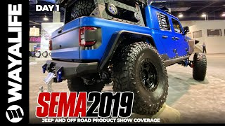Download SEMA 2019 Jeep Gladiator Truck JL Wrangler Products Accessories DAY 1 Cooper Tire JKS Dana Spicer Mp3 and Videos