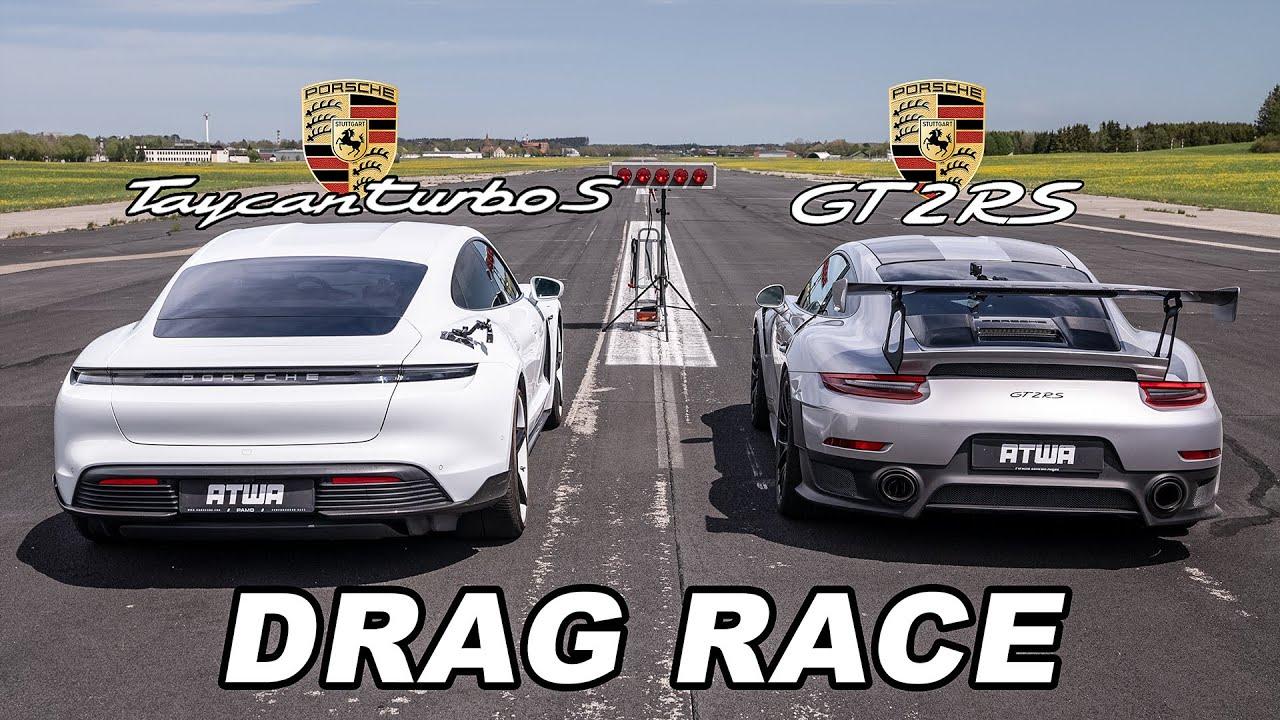 Porsche Taycan Turbo S vs. Porsche GT2 RS | DRAG RACE | Daniel Abt