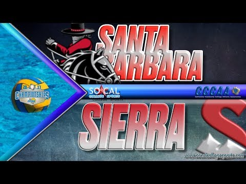 2017 CCCAA Water Polo Women's Final: Santa Barbara v Sierra
