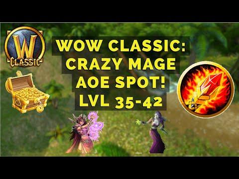 WoW Classic: Crazy Mage 35-42 AOE Farming Location!