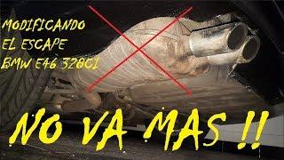 MODIFICANDO EL ESCAPE!! Exhaust removal - Bmw E46 328CI