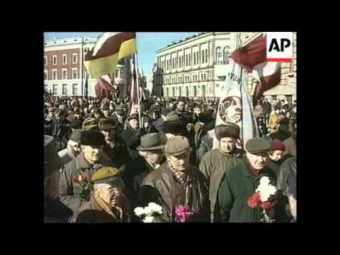 LATVIA: RIGA:  CRITICISM OF LATVIAN WAFFEN SS MARCH