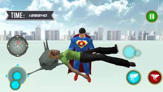 ► Grand Superhero Flying Robot City Rescue Mission 2 (Dolphin Games) Superman shark city rescue
