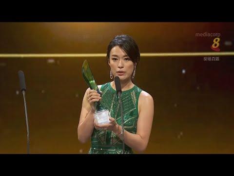 Rebecca Lim wins Best Actress Award in Star Awards 2018