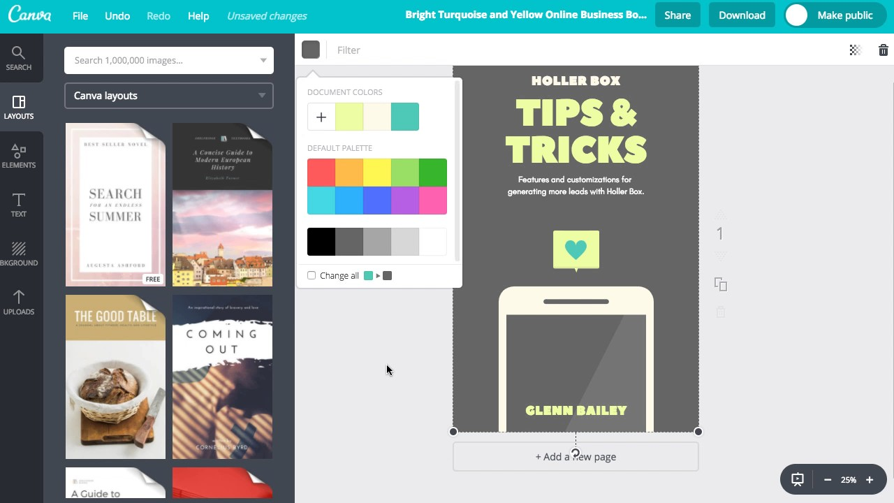 Make A Free Pdf Ebook Cover Design With Canva