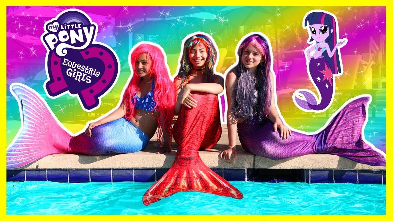 My Little Pony Transforms Into Mermaids Rainbow Dash Twilight Sparkle Pinkie Pie