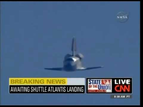 Space Shuttle Atlantis Landing In California May 24 2009