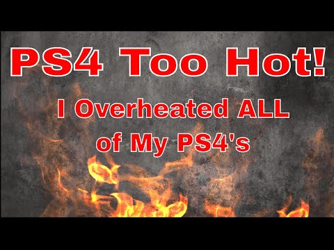 Overheating PS4!!! I overheated all of my PS4's.
