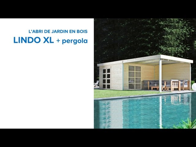 Abri de jardin Lindo XL + pergola BLOOMA (645649) Castorama