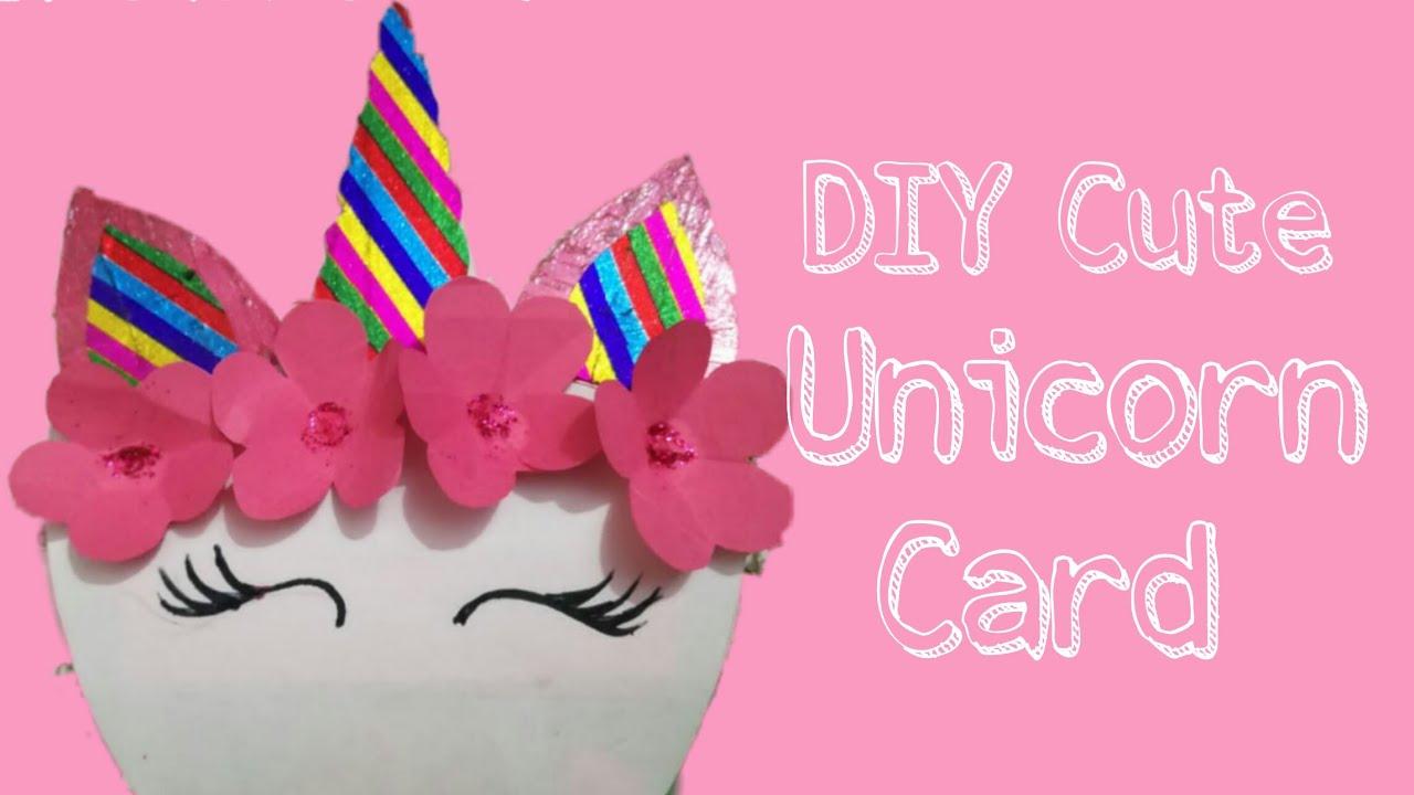 unicorn cardbirthday cardpopup card  diy cute unicorn