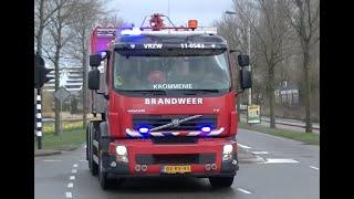 11-0583 + 11-0569 en 11-8037 met spoed naar een Grote Brand te Alkmaar