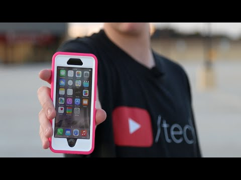 iPhone 6 Otterbox Survives 3-Story Drop Test! (w/ a Drone)