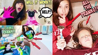 EVERY PRANK I'VE DONE ON MY SISTER IN ONE VIDEO!!!