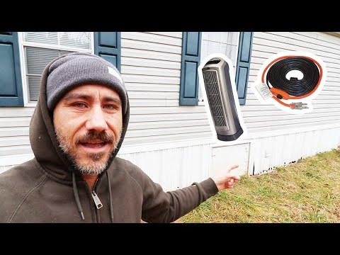 Thaw (Help Prevent) Frozen Pipes in Mobile Home 🥶